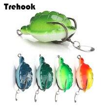 TREHOOK 12g 5.5cm pêche appât artificiel tortue souple leurres de pêche Silicone dessus de poisson eau truite cuillère pour brochet Wobblers leurre