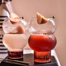 Copo de vidro bebendo copo de iogurte para café da manhã cocktail copo de vidro resistente ao calor vasos hidropônicos fou99
