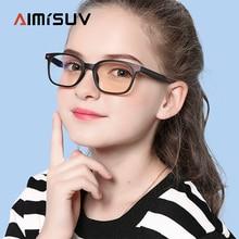AIMISUV анти-синий светильник, блокирующие очки для детей, фирменный дизайн, модные дорожные гибкие TR90, рамка для мальчиков и девочек, компьютерные очки для детей