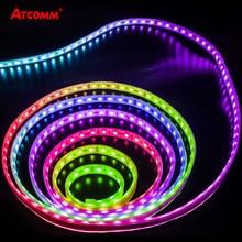 Bande lumineuse RGB LED 12V WS2811 IC, rétro-éclairage, ruban de diodes, lampe de fond individuelle Programmable, Pixels, 5050