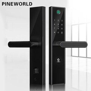 Image 1 - PINEWORLD L5 ความปลอดภัยอัจฉริยะ Biometric ลายนิ้วมือล็อค WIFI รหัสผ่าน RFID บลูทูธ APP ระยะไกล