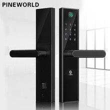 PINEWORLD L5 セキュリティインテリジェントバイオメトリック指紋ロックと無線 Lan のパスワード RFID Bluetooth APP リモートロック解除
