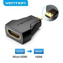 Адаптер Vention Micro HDMI 1080P Micro HDMI Male to HDMI Female конвертер типа D в HDMI адаптер для PS4 камеры HDTV Mini HDMI