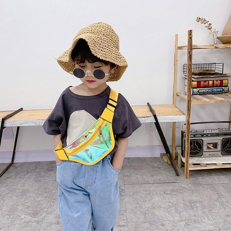 Children Mini Waist Bag Leather Fanny Packs For Kids Girl Boy Laser Belt Bag Baby Waist Pack Toddler Fanny Pack