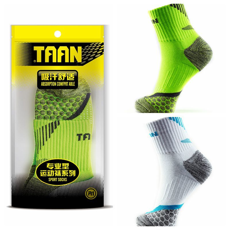 1 Pair TAAN Ladies' Badminton Socks Women Thickened Tower Cotton Quick Dry Running Sport Breathable Tennis Sock T-130