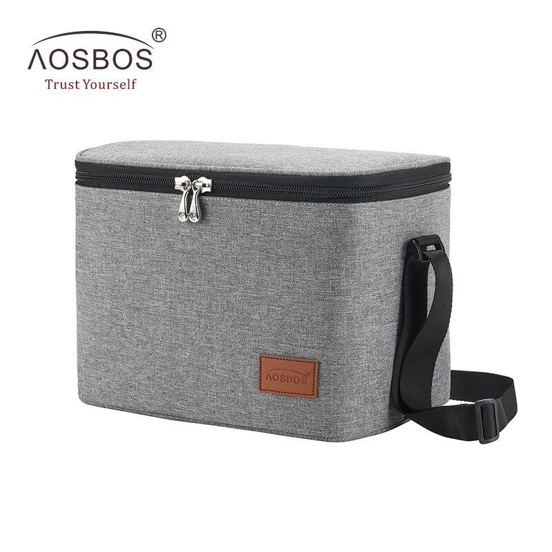 Aosbos Moda Portátil Lancheiras Térmicas para Mulheres Homens Crianças Picnic Cooler Box Isolado de Alimentos Multifuncional Sacola De Armazenamento