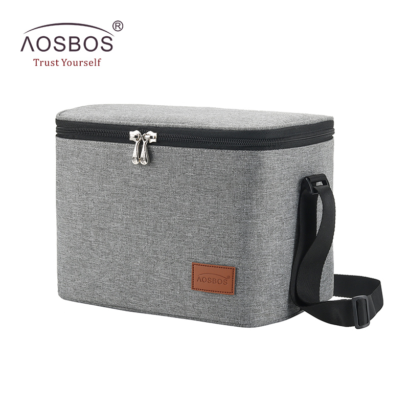 Aosbos Fashion Portable Thermal Lunch Bags For Women Kids Men Multifunction Food Picnic Cooler Box Insulated Tote Bag Storage