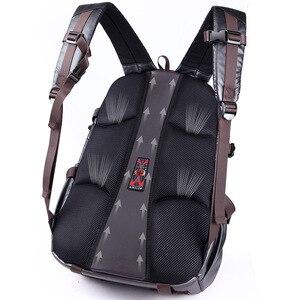 Image 4 - Novo homem mochila para 15.6 polegadas portátil, grande capacidade estudante mochila estilo casual saco repelente de água unisex bagagem & sacos