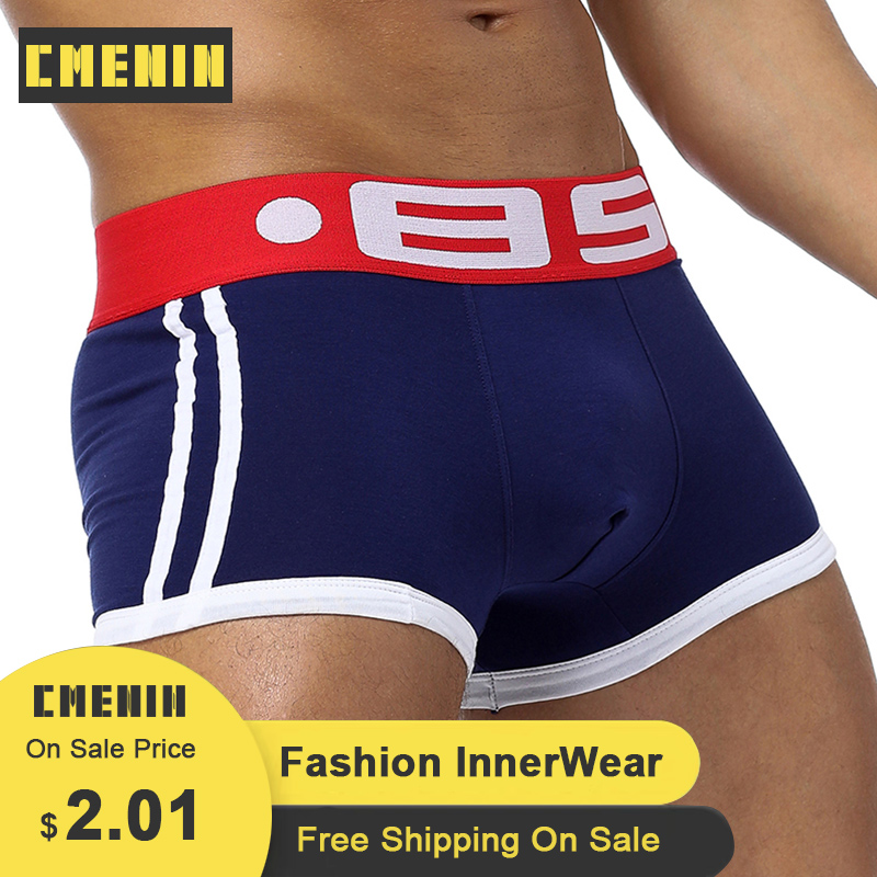 BS Brand Men Underwear Boxer Sexy Cotton Boxers Gay Underwear Man Male Underpants Slip Cuecas Male Panties Mens Boxershorts BS40