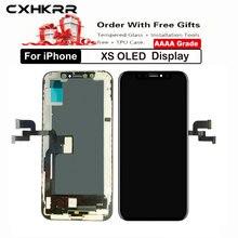 10 шт/класс aaa +++ для iphone xs oled сменный экран в сборе