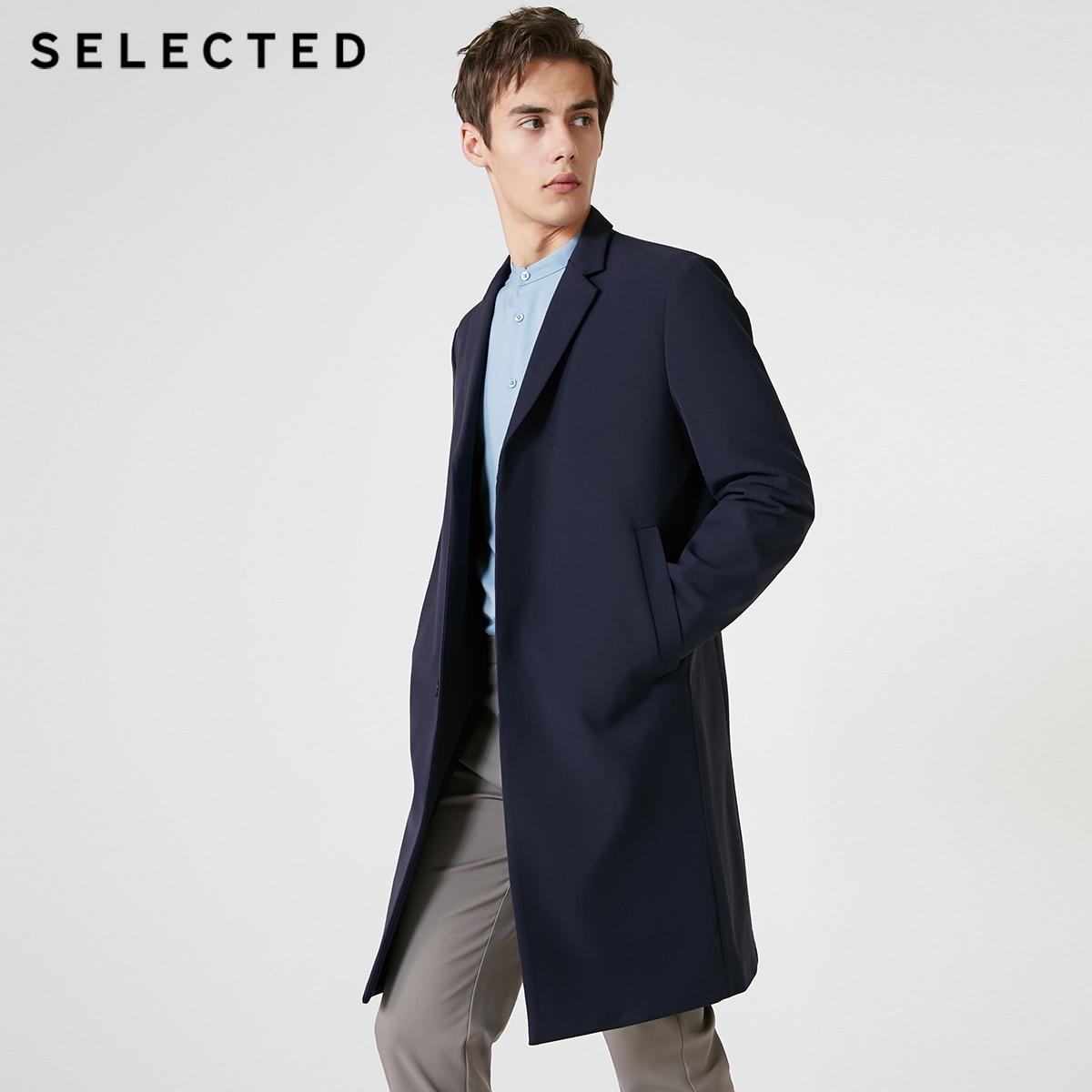 SELECTED Men's Mid-length Lapel Trench Coat S|4191OM524