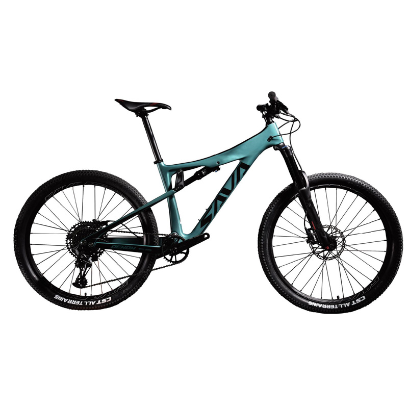 Carbon Fiber Downhill Bicycle Full Suspension Mountain Bike 27.5 Inch AM/ DH Bike With 63mm Rear Shock Absorber Full Suspension