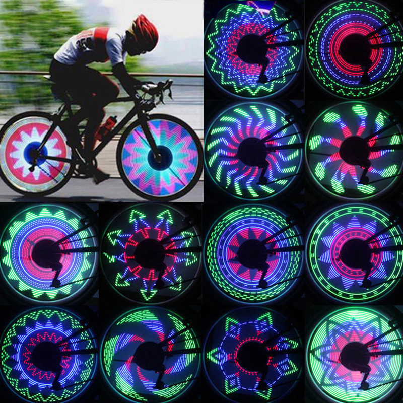 Waterproof Mutil-color Mountain Bicycles Bike Wheel Spoke Light Led light USA