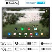 Super 6G Ram 10 pollici Tablet PC 2.5D vetro temperato Android 10.0 Pie OS Octa Core Dual Sim 4G LTE WiFi tipo-c porta telefonata