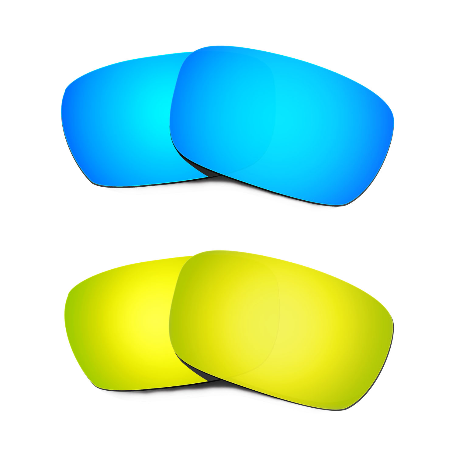 Hkuco For Jury Sunglasses Polarized Replacement Lenses 2 Pairs - Blue&Gold