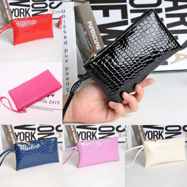 H4ec4f3c4d3bf4cc2a5bba860db3a8936G - Women Coin Purse small wallet Crocodile Leather