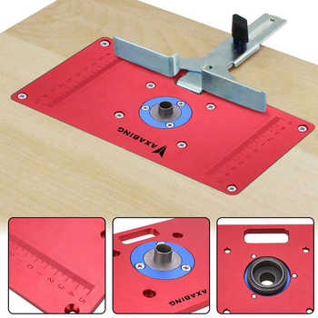 Aluminum Router Table Insert Plate W / 2 Router Insert Rings For Woodworking Benches Router RT0700C Wood Tools DorpShipping - DISCOUNT ITEM  50 OFF Tools