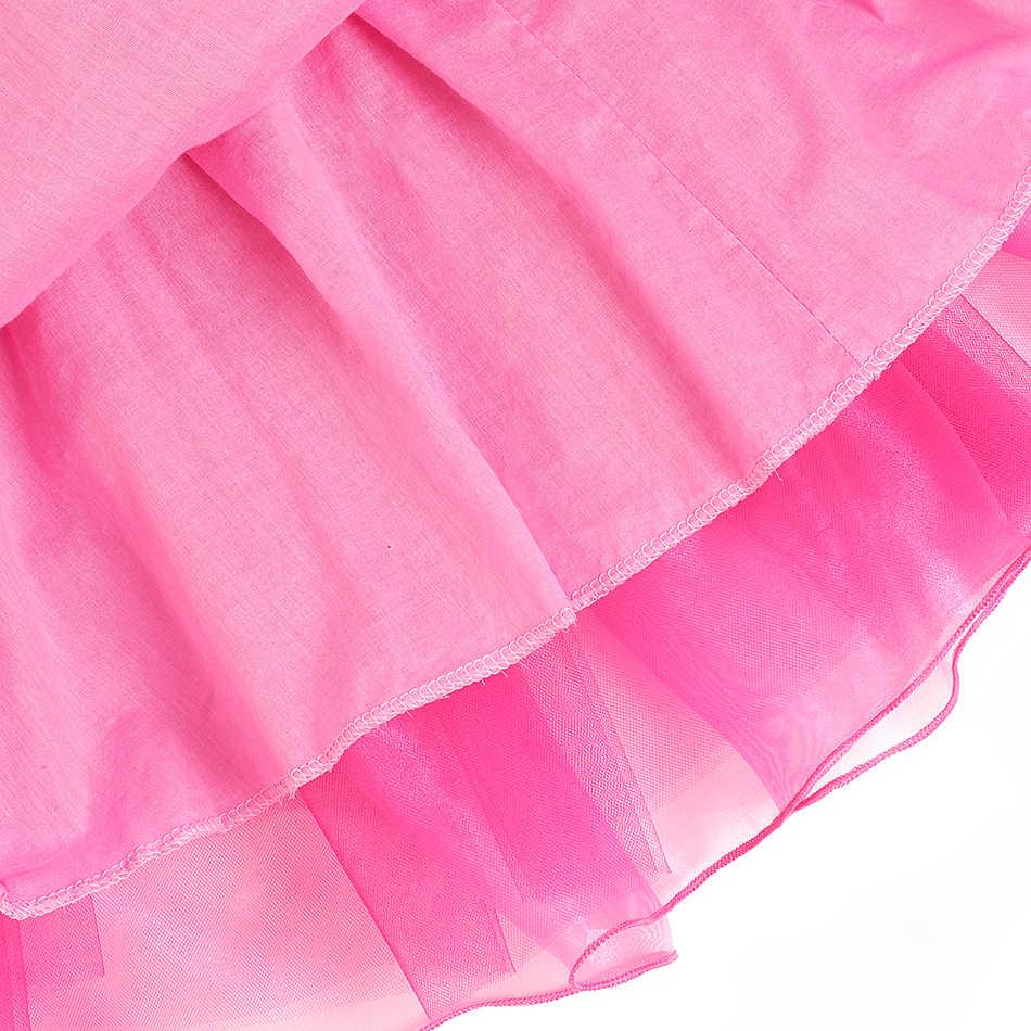 MUABABY kızlar Aurora prenses kostüm çocuk damla omuz uyku güzellik Pageant parti kıyafeti cadılar bayramı süslü elbise giysi