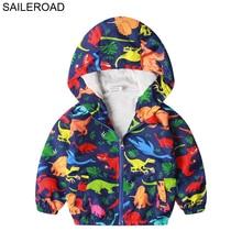 Coat Outerwear Boys Jacket Autumn SAILEROAD Dinosaur-Print Baby Kids 2-7years