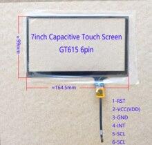 7 дюймовый автомобильный Радио Carpc емкостный сенсорный экран 164*99 мм 6pin GT615