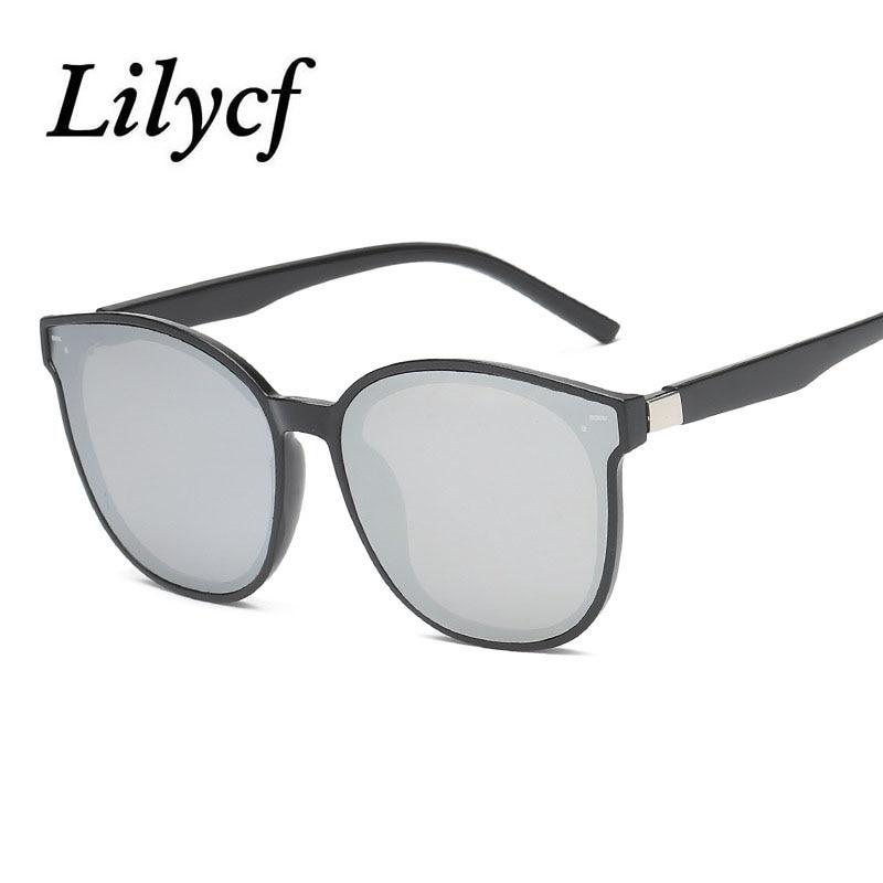New Round Retro Big Box Sunglasses Unisex Street Shooting Glasses Personality Women's Brand Designer Sunglasses UV400 2019