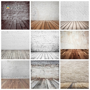 Image 1 - Laeacco Brick Wall Wooden Floor Photophone Photocall Grunge Portrait Baby Newborn Photography Backdrops Photo Backgrounds Props