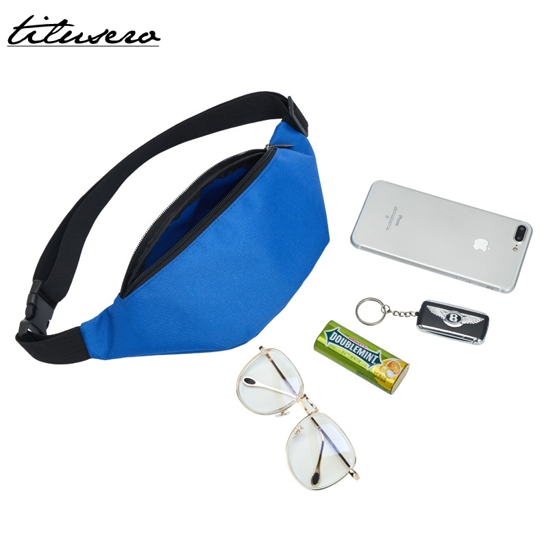 Waist Bag Colorful Unisex Waist Pack Fashion Waterproof Belt Bag Zipper Pouch Packs 110cm Belt Length F069