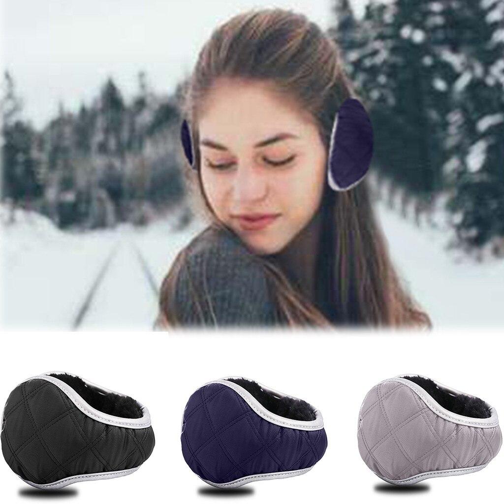 New Solid Color Ladies Earmuffs Fur Headphones Unisex Foldable Winter Earmuffs Winter Reflective Ear Warmer Plush Headgear #3
