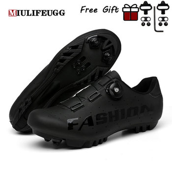 2021 New Cycling Mountain Bike Shoes MTB Sneakers Men Footwear Dirt Racing Clit Bicycle Road Spd Speed Cleat Flat Black Sports 1