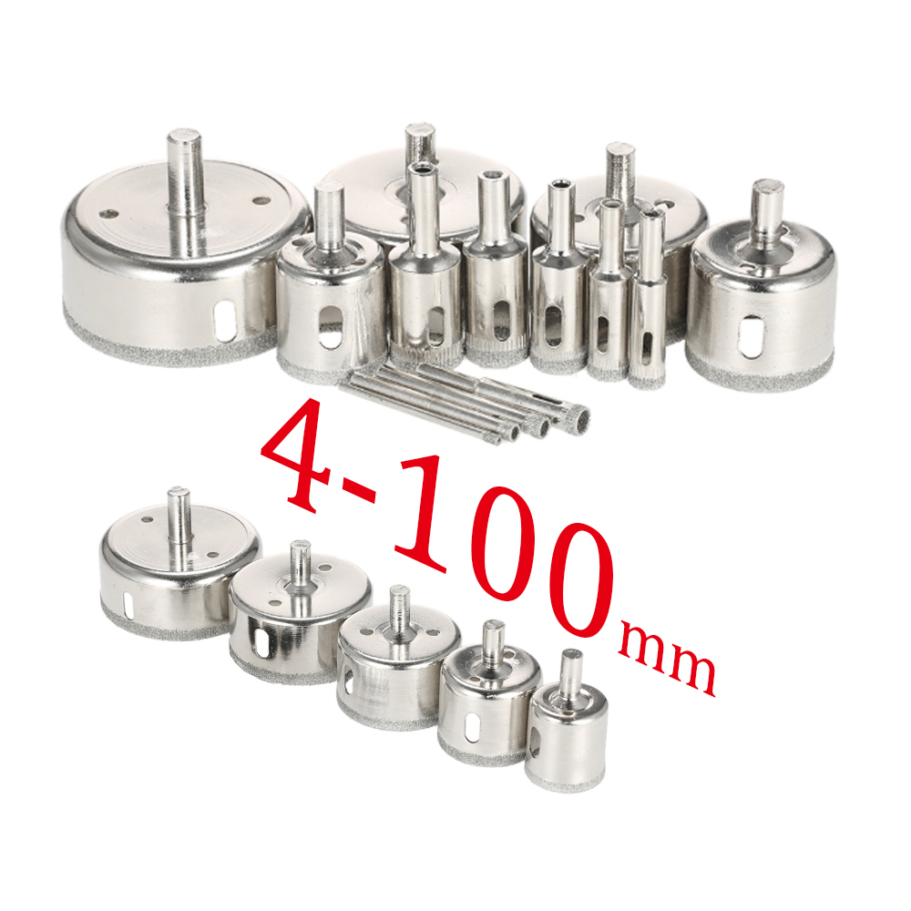 Wholesale Diamond Coated Drill Bit Set Tile Marble Glass Ceramic Hole Saw Drilling Bits For Power Tools 6mm-100mm