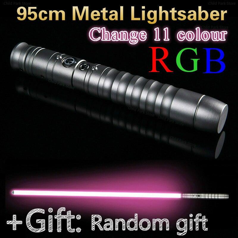 95cm Cosplay Lightsaber Luke Skywalker Light Saber Jedi Sith Laser Force Fx Heavy Dueling Loud Sound High Gift Kids
