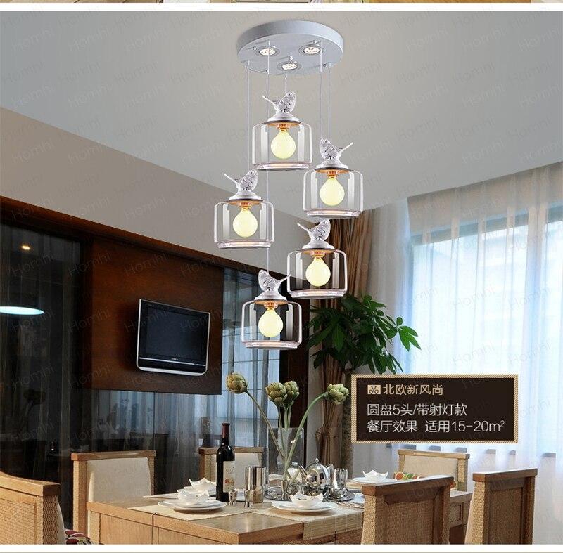 Lâmpada de pássaro hanglamp candiles de cristal