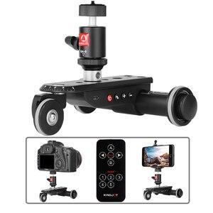Image 3 - KINGJOY PPL 06S זמן לשגות מיני ממונע חשמלי מסלול מחוון מנוע דולי משאית לרכב עבור מצלמה מצלמת וידאו דולי למצלמה
