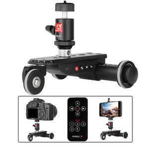 Image 3 - KINGJOY PPL 06SPRO Camera Slider Dolly Car Rail Systems Time Lapse Electric Motorized Dolly Car For Camera Phone Camcorder Dslr