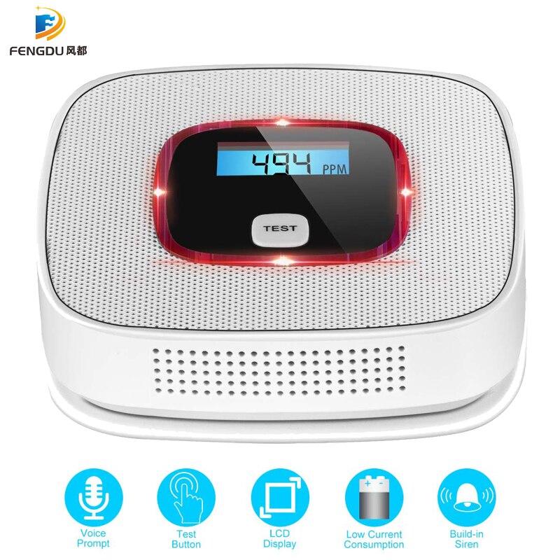 LCD CO Carbon Monoxide Gas Alarm Sensor Poisoning Smoke Tester Detector Monitor Tool  Free Shipping