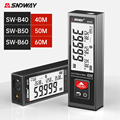 SNDWAY Laser Rangefinder Handheld Laser Distance Meter 40M 50M 60M Segment LCD Digital Display Electronic Laser Tape Measure