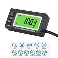Multifunktions Stunde Meter Tachometer Voltmeter Mit Uhr 2 & 4 Hub für Kleine Motor Boot Außenborder Mercury Motocross RL HM028