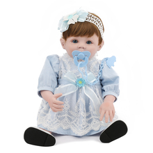 48cm Reborn Baby Dol silicone and cloth toys for girls 2019 new design simulation short hair doll sale kids growing up gift