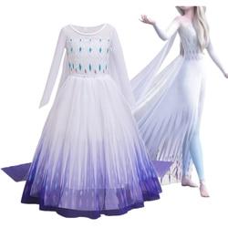 Fantasia cosplay meninas princesa vestido de floco de neve traje para o dia das bruxas natal crianças vestidos de festa férias meninas roupas