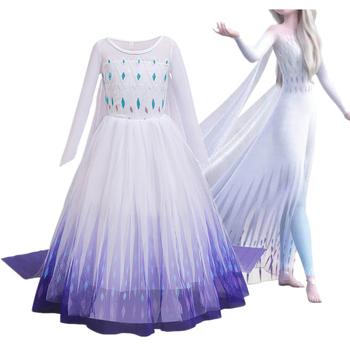Fantazyjne Cosplay dziewczyny księżniczka sukienka śnieżynka kostium na Halloween boże narodzenie dzieci sukienek wakacje dziewczyny odzież tanie i dobre opinie jyhycy Poliester Wiskoza Woal CN (pochodzenie) Kostek O-neck REGULAR Pełna Nowość Pasuje prawda na wymiar weź swój normalny rozmiar