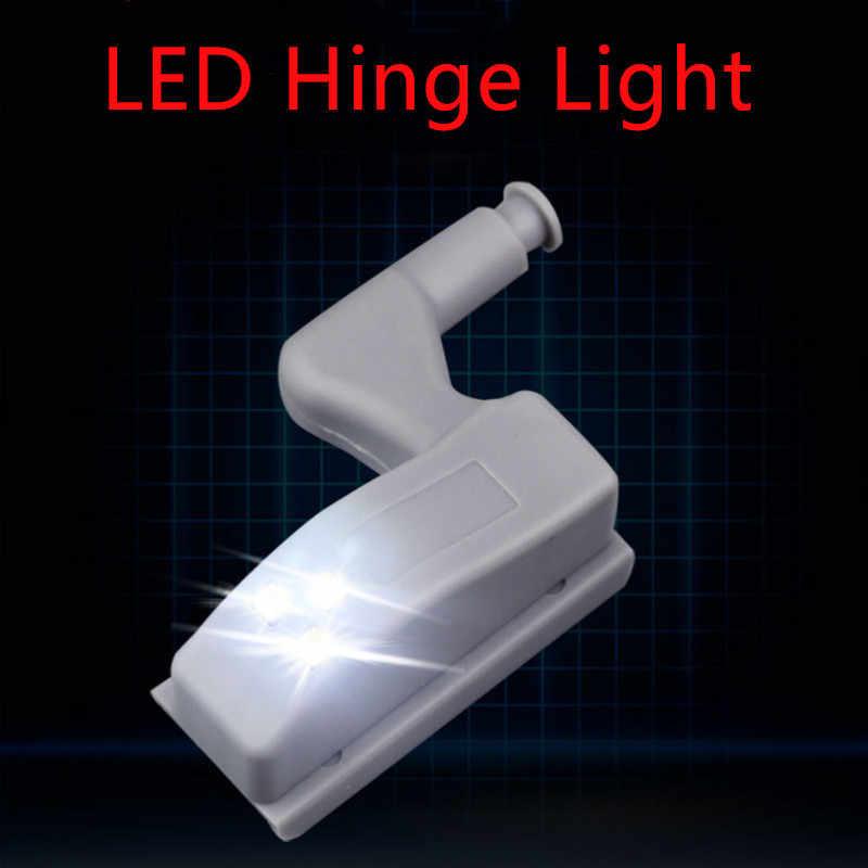 Светодиодный светильник под шкаф универсальное освещение для гардероба сенсор светодиодный Armario внутренняя шарнирная лампа для шкафа кухни
