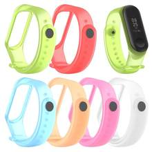 6 Kleuren Solid Smart Armband Voor Xiao Mi Mi Band 3 4 Armband Band Silicon Tpu Sport Band Polsband Vervanging armband Tsfh(China)