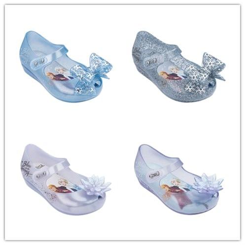 2020 Mini Melissa Ultragirl 2020 Original Girl Jelly Sandals Butterfly Knot Kids Sandals Children Beach Shoes Non-slip Meliss