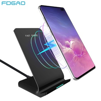 15W Qi Wireless Charger Stand for iPhone 11 Pro X XS Max XR 8 QC 3.0 Fast Wireless Charging Station for Samsung S20 S10 Note 10