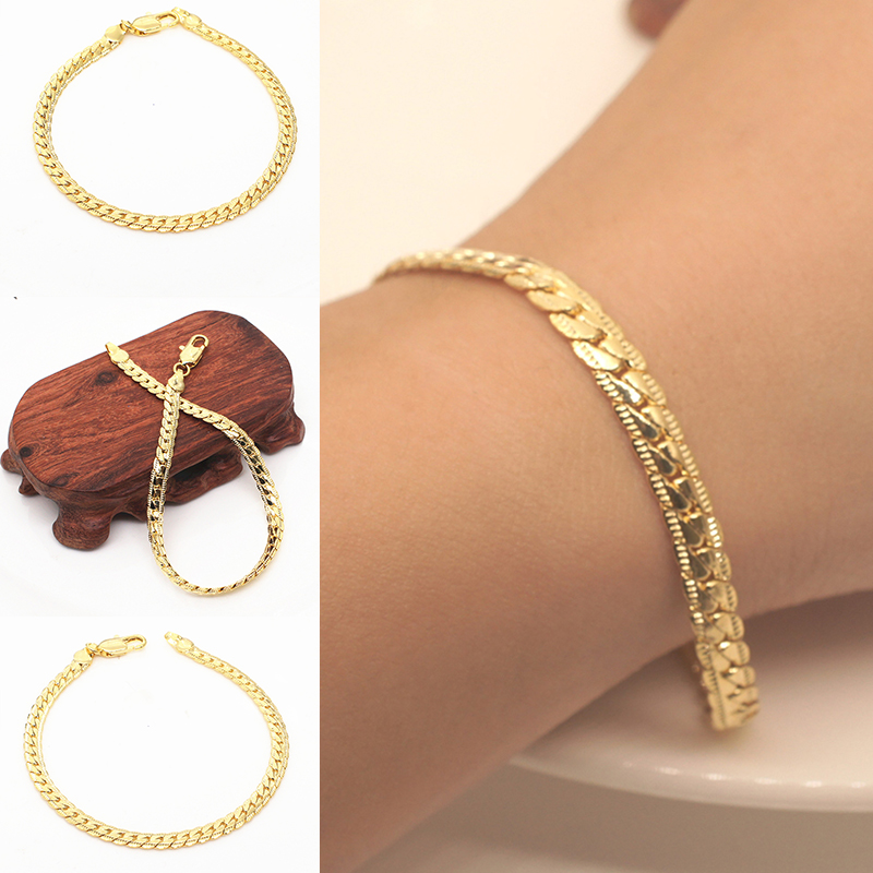 Bracelets for Women Gold Bracelet Charm Chain Wedding Jewelry Link Party Gift Snake bracelet femme D40