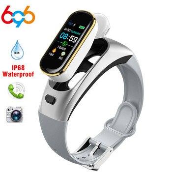 H109 Smart Watch Bluetooth Earphone Smart Bracelet Blood Pressure Heart Rate Monitor Watch Men Fitness Track Wristband Women