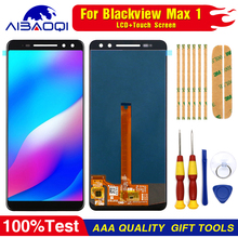Neue original Touchscreen LCD Display LCD Bildschirm Für Blackview Max 1 Ersatz Teile + Zerlegen Werkzeug + 3M klebstoff