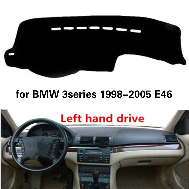 Pokrywa deski rozdzielczej samochodu dla BMW serii 3 1998-2005 akcesoria E46 włókno poliestrowe Auto deska rozdzielcza mata Pad dekoracja mata antypoślizgowa