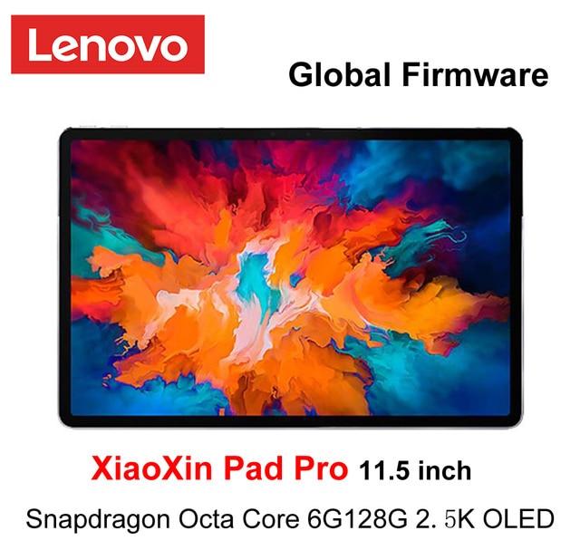 Logiciel mondial Lenovo XiaoXin Pad Pro Snapdragon Octa Core 6 go de RAM 128 go 11.5 pouces 2.5K écran OLED lenovo tablette Android 10