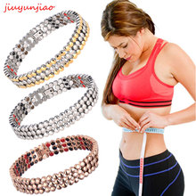 66 PCS Magnetic Slimming Bracelet Bangle Silver Germanium Br